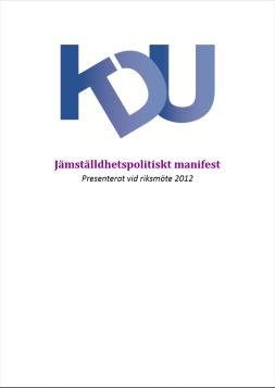KDU_Jämställdhetspolitiskt_Manifest_Liten